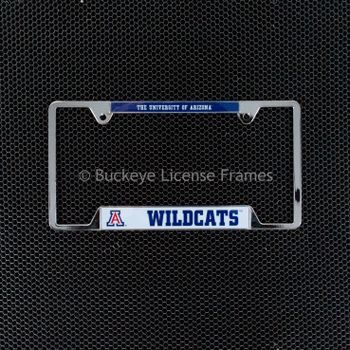 University Of Arizona Wildcats Chrome License Plate Frame - Metal