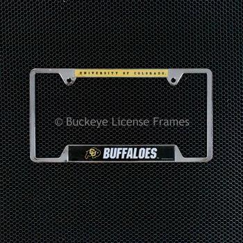 University of Colorado Buffaloes Chrome License Plate Frame - Metal