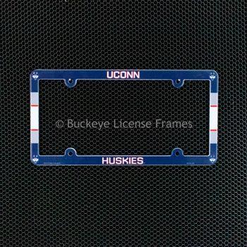 University of Connecticut Huskies Full Color Plastic License Plate Frame