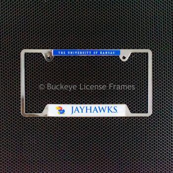 University of Kansas Jayhawks Chrome License Plate Frame - Metal