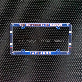 University of Kansas Jayhawks Full Color Plastic License Plate Frame