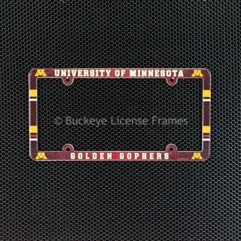 University Of Minnesota Golden Gophers Full Color Plastic License Plate Frame