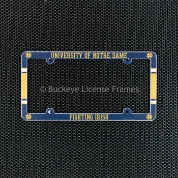 University Of Notre Dame Full Color Plastic License Plate Frame