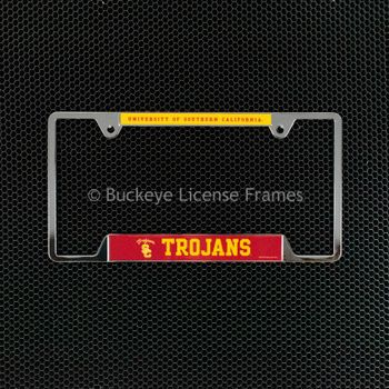 University of Southern California Trojans Chrome License Plate Frame - Metal