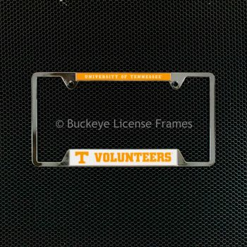 University Of Tennessee Volunteers Chrome License Plate Frame - Metal