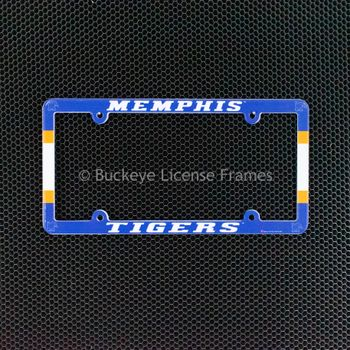 University Of Memphis Tigers Full Color Plastic License Plate Frame