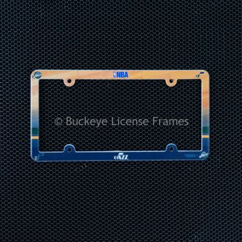 Utah Jazz Full Color Plastic License Plate Frame