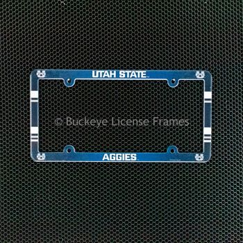 Utah State University Aggies Full Color Plastic License Plate Frame