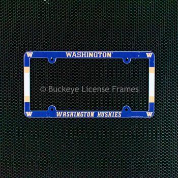 University Of Washington Huskies Full Color Plastic License Plate Frame