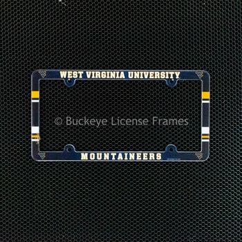 West Virginia University Mountaineers Full Color Plastic License Plate Frame