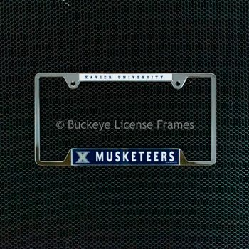 Xavier University Musketeers Chrome License Plate Frame - Metal