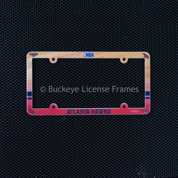 Atlanta Hawks Full Color Plastic License Plate Frame
