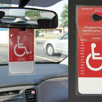 Hanging Disability Placard Cover - Set of 2