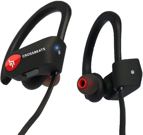 Buy CrossBeats Wave Bluetooth Wireless Earphones for Mobile with Mic Black