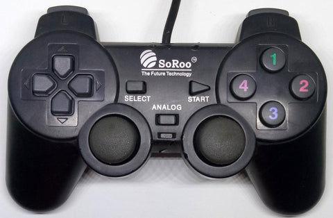 Combo-Soroo Game pad controller USB SHOCKS JOYSTICK The future tech (Refurbished)
