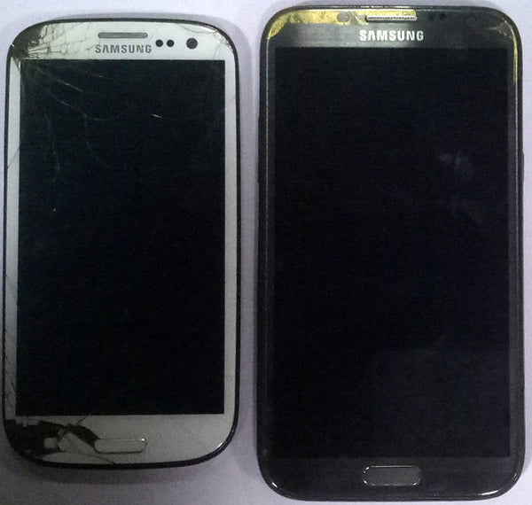 Combo of  Dead Samsung Galaxy S3 and Samsung Galaxy Note 2 Mobiles