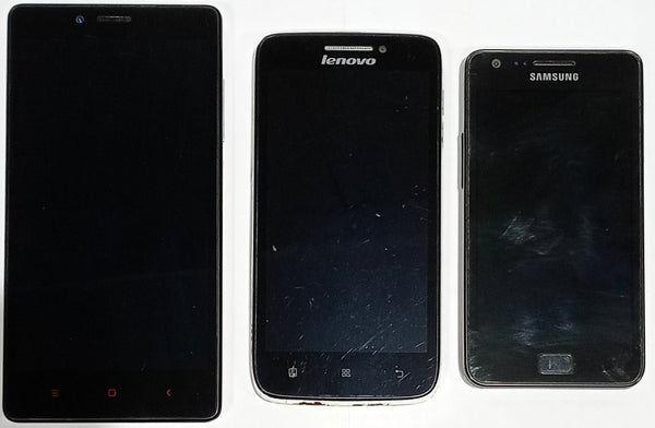 Buy Combo of Dead Lenovo S650 + Samsung Galaxy S2 + Xiaomi Redmi Note 4g Mobiles.