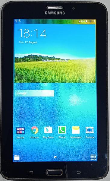 """Buy Used Samsung Tab 3V (SM-T116NU) 7"""" Wi Fi +3G  8GB 1GB RAM Black Tablet"""