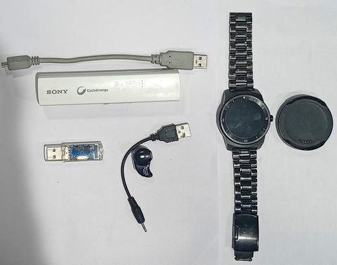 Buy Combo of Used LG G Watch R + Sony CP-EL + Universe SYB-161 BT-Dongle + S530AL BT-Headset