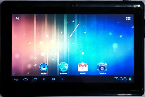 "Aakash Tab 7""Inch 4GB Wi-Fi Gray/Black Tablet (Refurbished)"