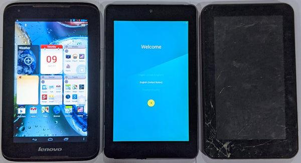 Combo of Used Lenovo Idea Tab A1000 + Asus Nexus Tab+ Dead DEVANTE Tab (Tablets)