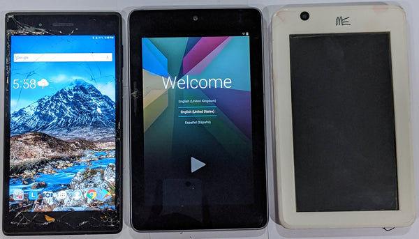 Combo of Used Lenovo Tab-7304F + Asus Nexus + HCL ME U1 Tablets