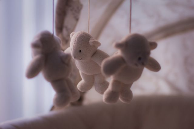 baby toy bears cradle 54547 13bf8