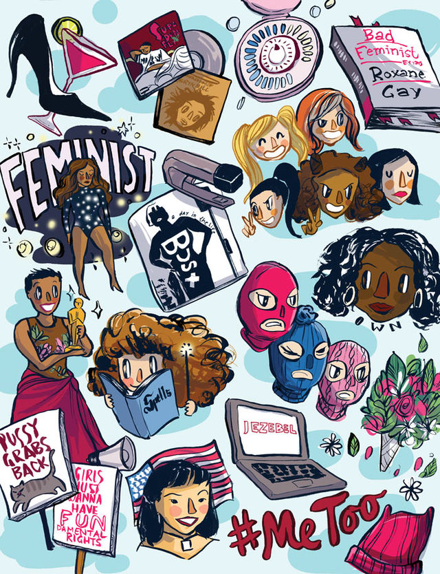 web Collage Style 25 Years Feminism c4440