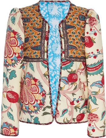 large alix of bohemia multi pomegranate cotton jacket f15e0