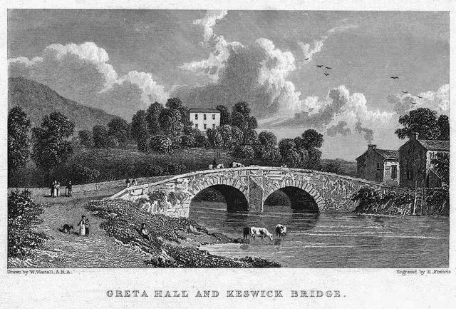 greta hall and keswick bridge by william westall 1840 51cfb
