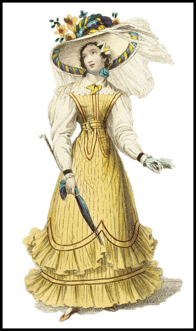 1827 seaside costume ackermann fashion plate dc55c