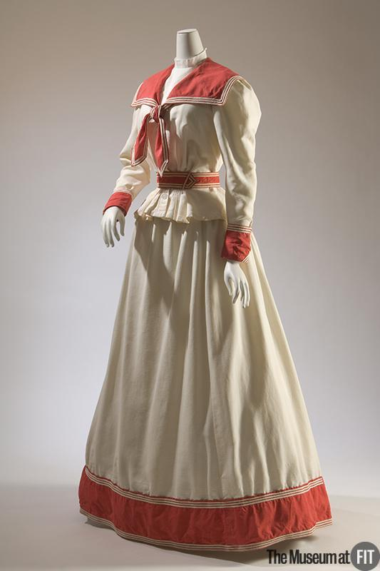 1895 cotton pique dress for the seaside via museum at fit 86897