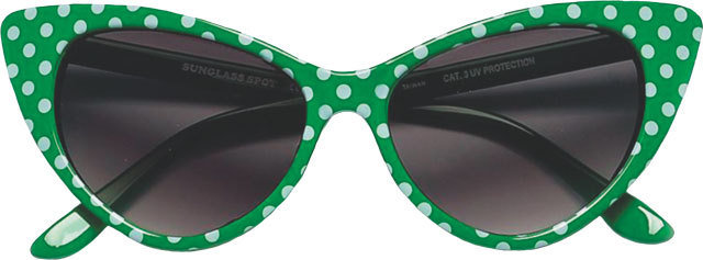Green Polka Dot Shades f1033