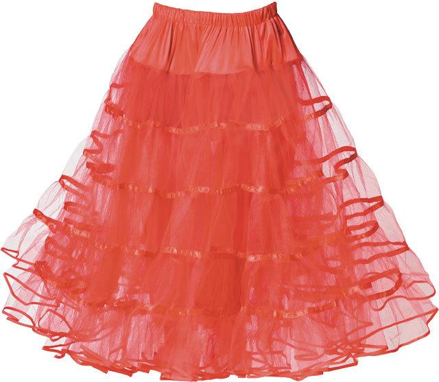 Red Tull Skirt fcf2d