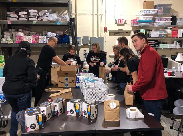 Volunteers Packaging Period Supplies bcb81