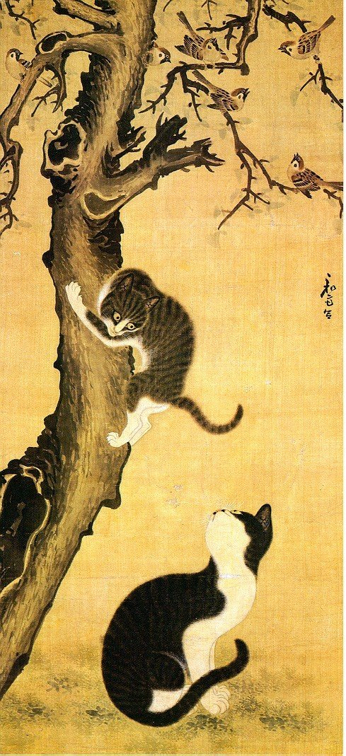 cats and sparrows by byeon sang byeok 1730 f9159