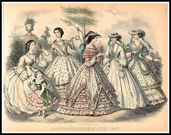 godeys ladys book fashions for july 1862 06e68