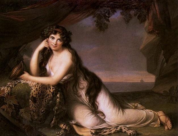 lady hamilton as ariadne by elisabeth vige lebrun 1789 deff8