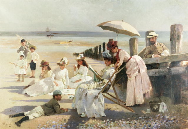 on the shores of bognor regis by a m rossi 1887 4ac59