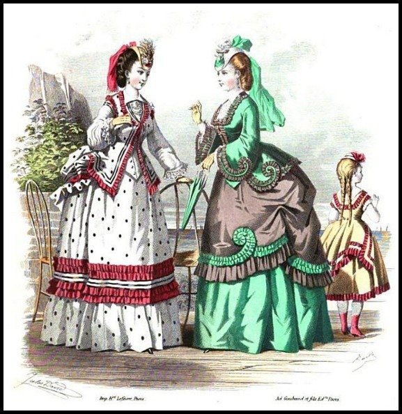 seaside costumes 1 milliner and dressmaker magazine 1870 80a92