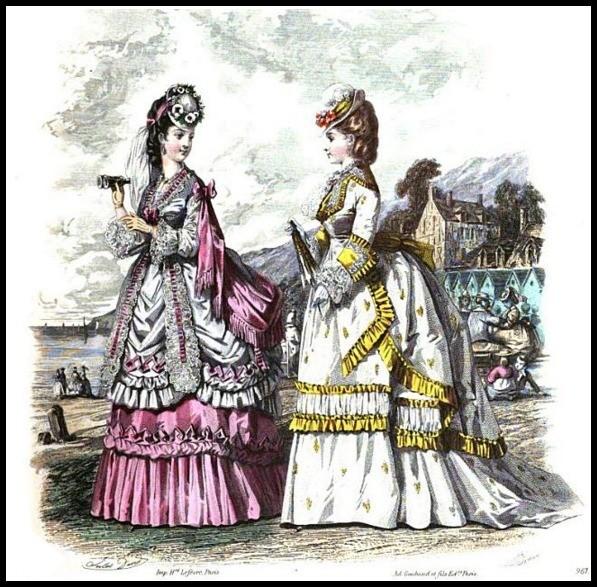 seaside costumes image 957 milliner and dressmaker magazine 1870 57881