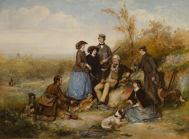 the shooting party by william powell frith f7155