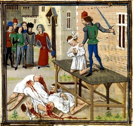1400s depiction execution of oliver declisdon lidet loyset 6effd