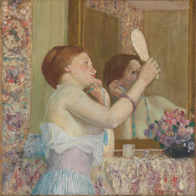 800px Woman with a Mirror Frieseke dcc0b