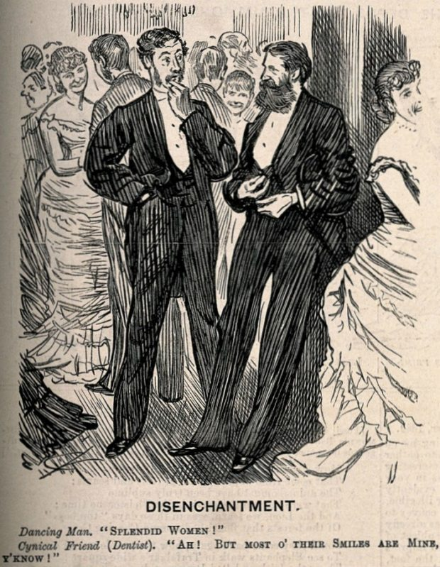 A man and a dentist commenting on the beauty of women at a ball Wellcome Images 1 e1537124577852 97ce9