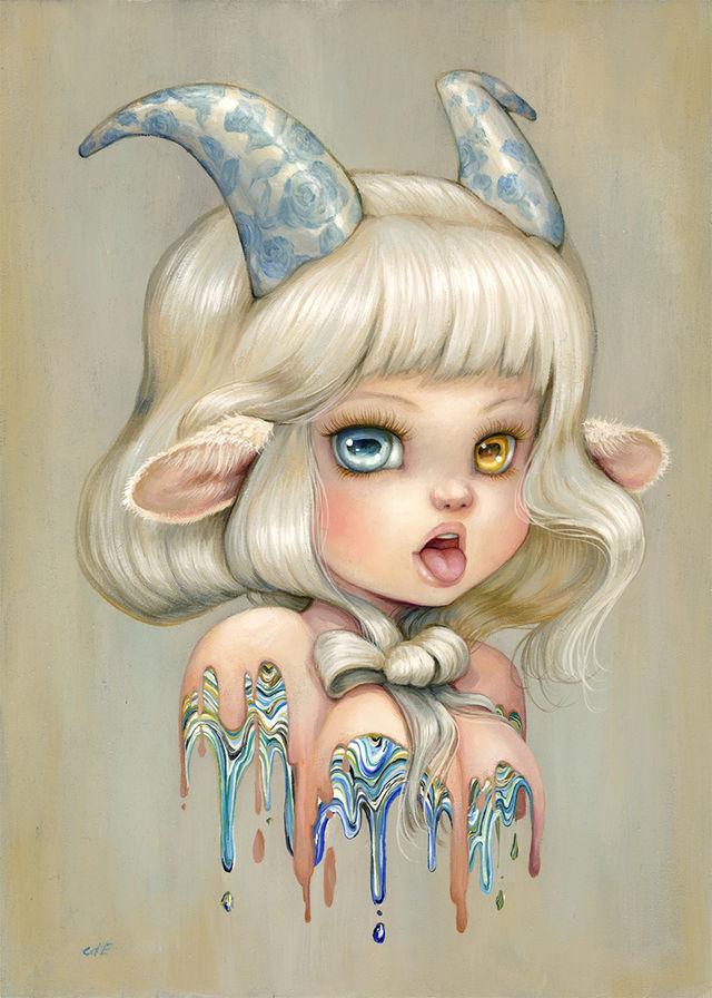 ARTWORK Camilla dErrico Zodiac Solo Show Capricorn webres d821d