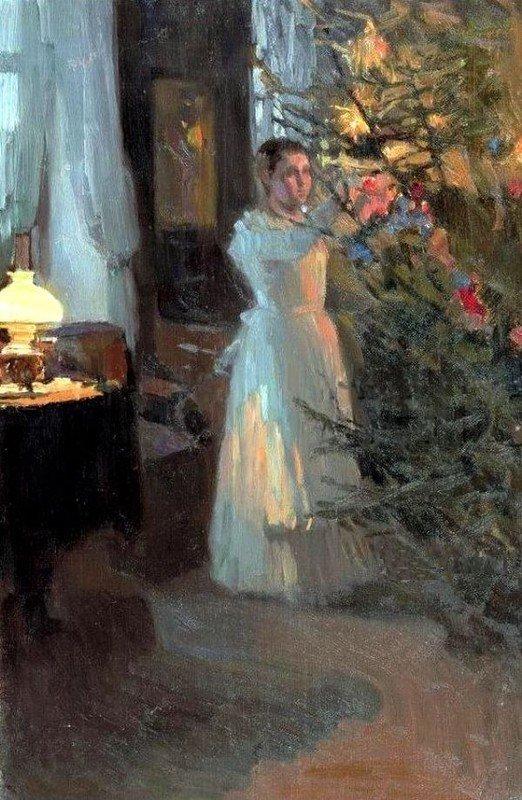 Christmas Tree by Alexei Korin 1910 5ae28