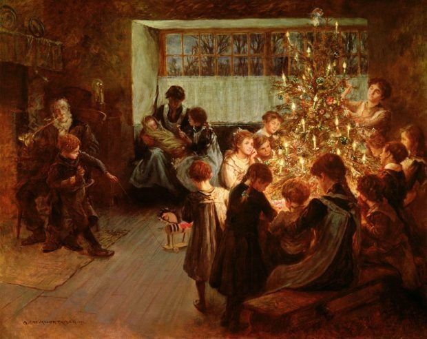 The Christmas Tree by Albert Chevallier Tayler 1911 e1544471938356 2a54f
