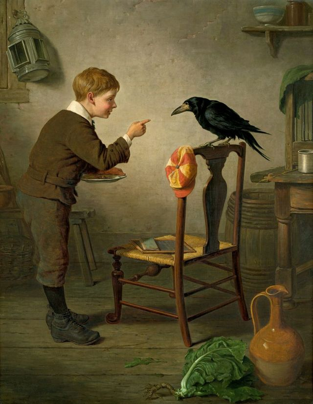 boy with raven by h c 1879 768x991 d9c90