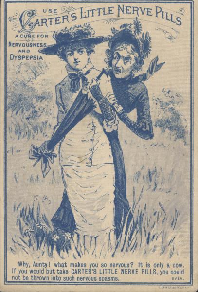 carters nerve pill advertisement circa 1870 1890 3c3a3